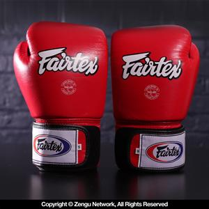 Fairtex BGV1 Muay Thai Gloves - Red/White/Black